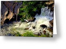 Sinks Waterfall Greeting Card by Karen Wiles