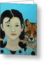 Sinopa Little Fox Greeting Card by The Art With A Heart By Charlotte Phillips