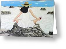 Sippin' On Top Of The World Greeting Card