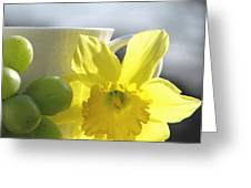 Sipping Spring Greeting Card