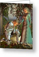 Sir Launcelot And Queen Guinevere Greeting Card by Fairy Fantasies