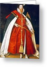 Sir Robert Devereux (1566-1601) Greeting Card