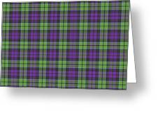 Sir Walter Scott Purple And Green Greeting Card