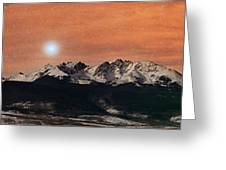 Sirius Diffusion Over The Gore Range Greeting Card by Mike Berenson