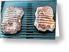 Sirloin Steak On The Barbecue Grill Greeting Card