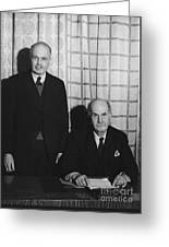 Sirs William And Lawrence Bragg Greeting Card