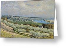 Sisley Saint-germain, 1875 Greeting Card
