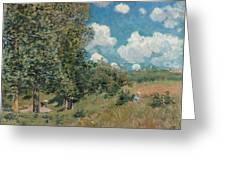 Sisley The Road, 1875 Greeting Card