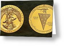 Sisseton Wahpeton Oyate Sioux Tribe Code Talkers Bronze Medal Art Greeting Card