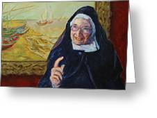 Sister Wendy Greeting Card