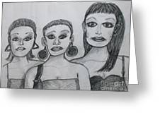 Sisters And Brother Greeting Card