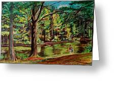 Sisters At Wason Pond Greeting Card by Sean Connolly