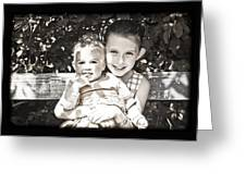 Sisters In Sepia Greeting Card
