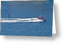 Sit Down Hydrofoil Ski Sport Greeting Card