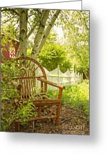 Sit For A While Greeting Card