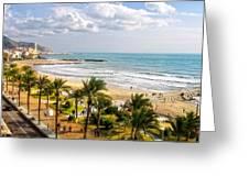Sitges Spain On The Mediterranean Coast Greeting Card