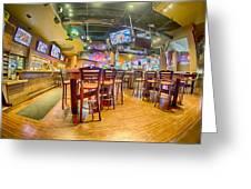 Sitting Area Inside Of A Tavern Bar Restaurant Greeting Card
