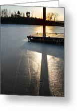 Sitting At The Dock Greeting Card