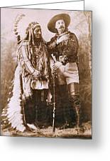 Sitting Bull And Buffalo Bill Greeting Card