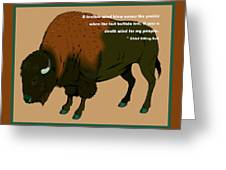 Sitting Bull Buffalo Greeting Card
