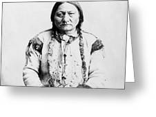 Sitting Bull Greeting Card by War Is Hell Store
