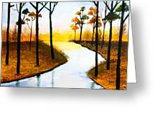 Sitting By The Lake Greeting Card