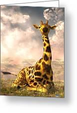 Sitting Giraffe Greeting Card
