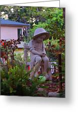 Sitting In The Garden Greeting Card by Judy  Waller