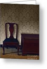 Sitting Room At Dusk Greeting Card