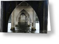Siuslaw River Bridge Florence Oregon Greeting Card