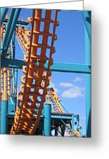 Six Flags America - Two-face Roller Coaster - 12121 Greeting Card