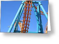 Six Flags America - Two-face Roller Coaster - 12122 Greeting Card