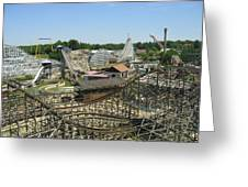 Six Flags America - Wild One Roller Coaster - 121210 Greeting Card