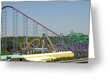 Six Flags America - Wild One Roller Coaster - 12123 Greeting Card