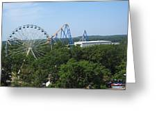 Six Flags Great Adventure - 12127 Greeting Card