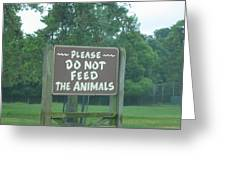 Six Flags Great Adventure - Animal Park - 121218 Greeting Card