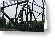 Six Flags Great Adventure - Medusa Roller Coaster - 12124 Greeting Card