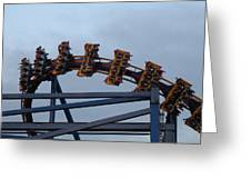 Six Flags Great Adventure - Medusa Roller Coaster - 12127 Greeting Card by DC Photographer