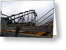 Six Flags Great Adventure - Nitro Roller Coaster - 12122 Greeting Card