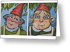 Six Gnomes Horizontal Greeting Card