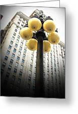 Six Light Lamp Post Greeting Card