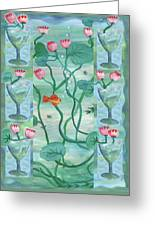Six Of Cups Greeting Card