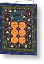 Six Of Pentacles Greeting Card
