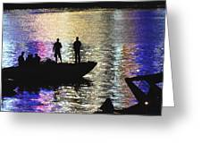 Six On A Boat Greeting Card