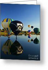 Six On The Pond Greeting Card