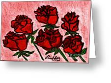 Six Roses Greeting Card