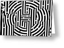 Six Shooter Illusion Maze  Greeting Card