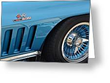 Sixty Six Corvette Roadster Greeting Card