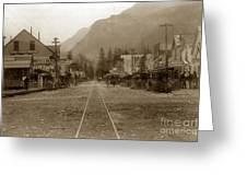 Skagway Alaska H. C. Bailey Photographer June 15 1898 Greeting Card