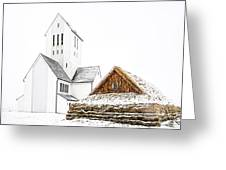Skalholt Church Greeting Card